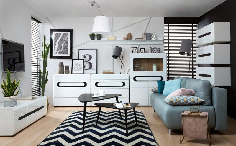 Nowoczesne wnętrze w stylu black & white