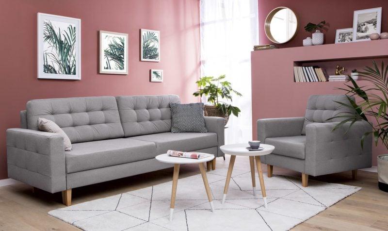 Dzięki kompaktowej formie i neutralnej kolorystyce sofa Soria może królować w małym salonie.