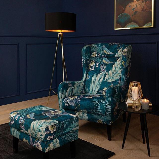 Fotel i pufa Telda