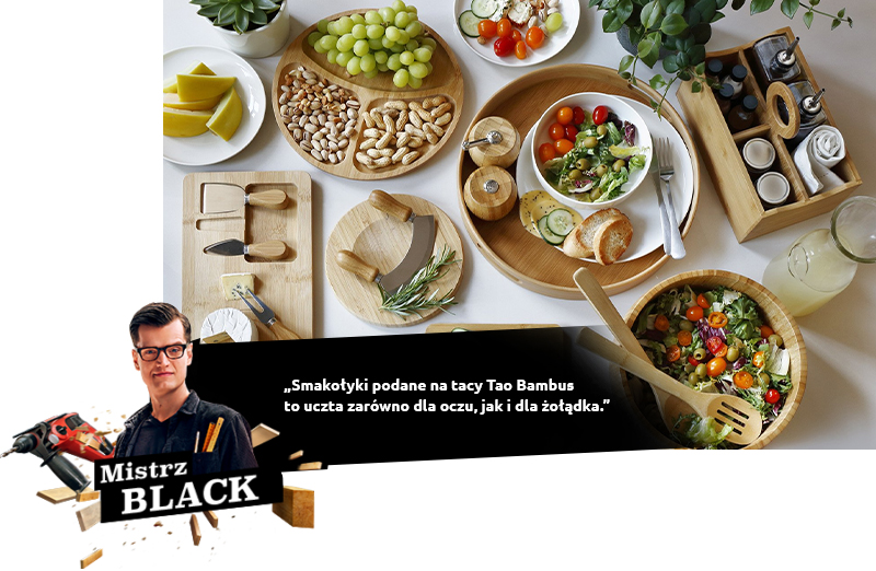BLACK: Smakołyki podane na tacy Tao Bambus to uczta zarówno dla oczu, jak i dla żołądka.
