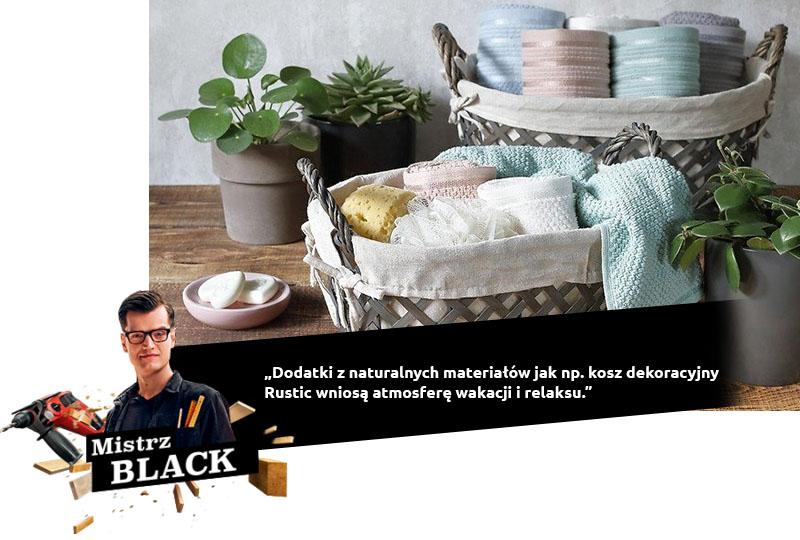 Accessoires noirs en matériaux naturels