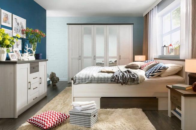 Noir Rouge Blanc, collection de meubles de chambre Luca, commode Luca, PLN 749