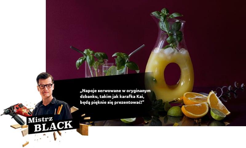 Les boissons servies dans la cruche d'origine, comme la carafe Kai, seront magnifiques!