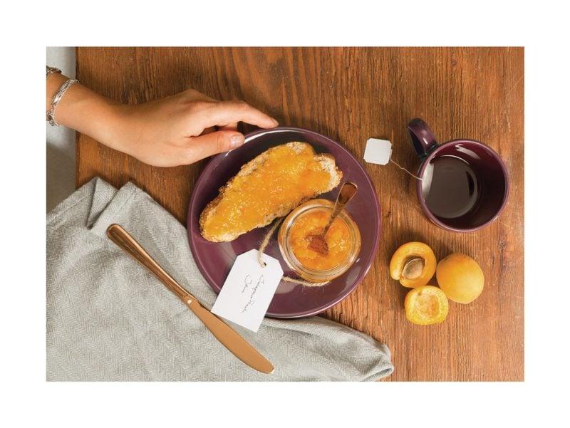 L'élégante assiette à dessert Marsala enrichira votre petit-déjeuner