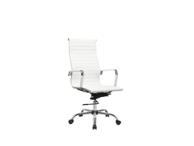 Fotel obrotowy biały Q-040