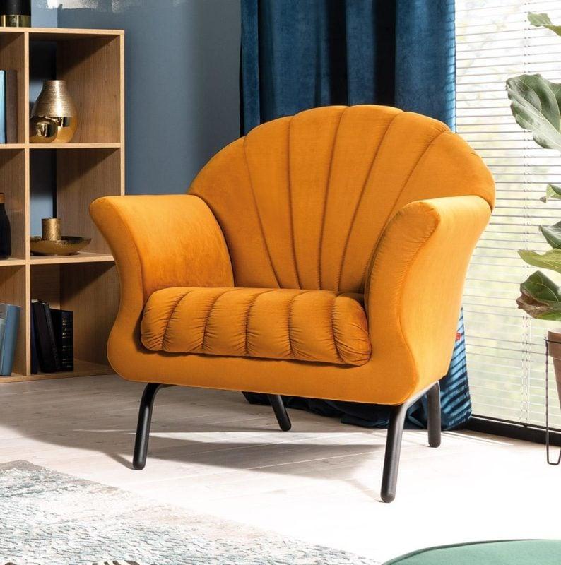 Designerski fotel Susa znakomicie wpisuje się w stylistykę vintage