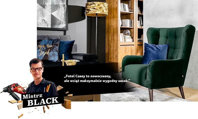 Fotel Casey to nowoczesny, ale wciąż maksymalnie wygodny uszak