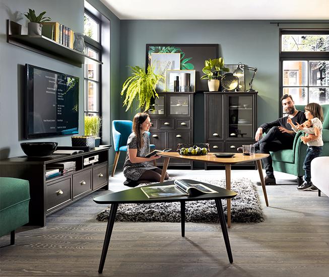 Noir Rouge Blanc, meuble TV Cannet, 599 PLN, meuble Cannet 949 PLN