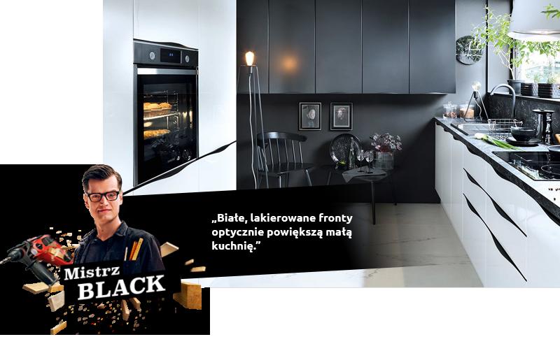 Białe, lakierowane fronty optycznie powiększą małą kuchnię