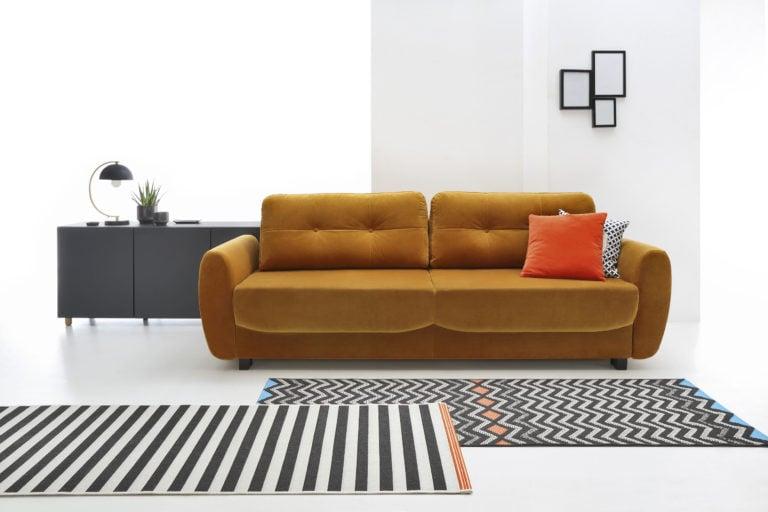 Le canapé bleu clair Tawi vous aidera à créer un décor relaxant dans un style moderne.