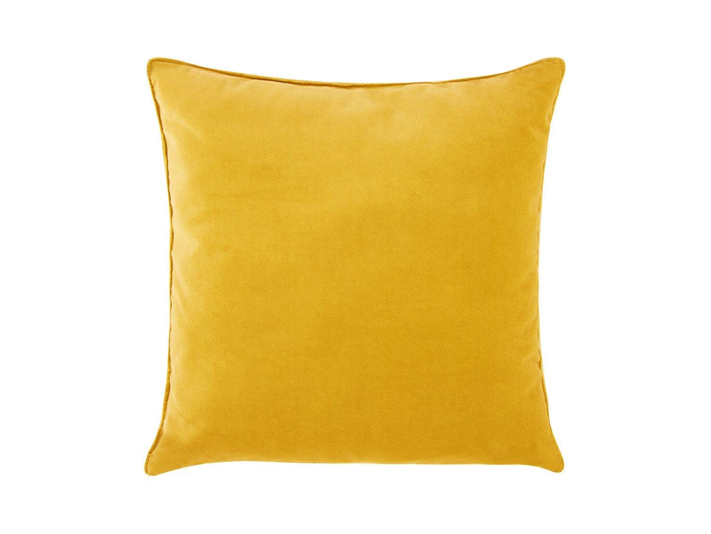 Żółta poduszka Velvet