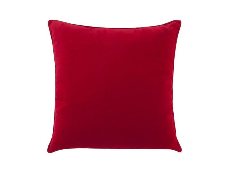 Czerwona poduszka Velvet