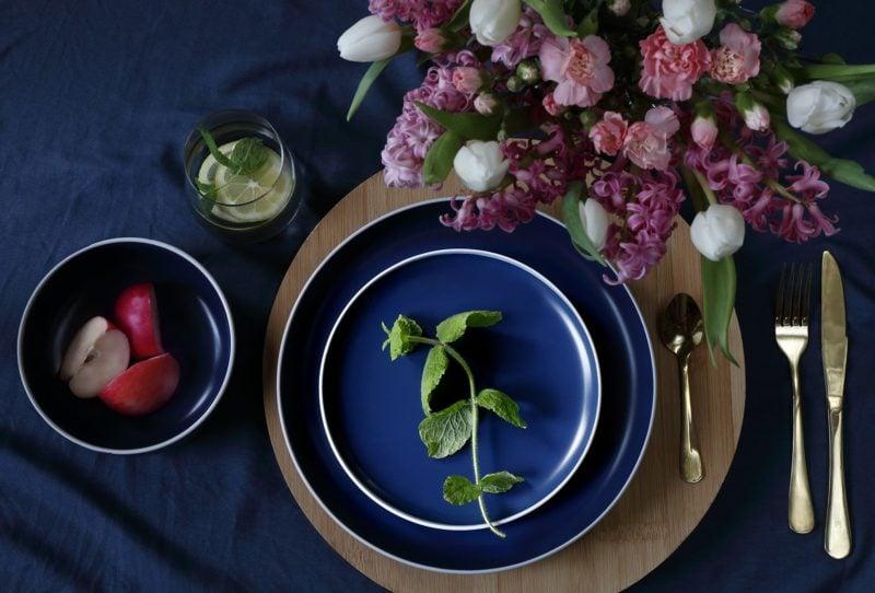 Komplet obiadowy Galactic Blue