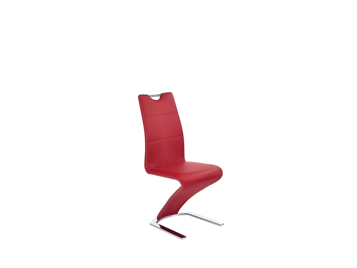 Krzesło na płozach z chromowanej stali