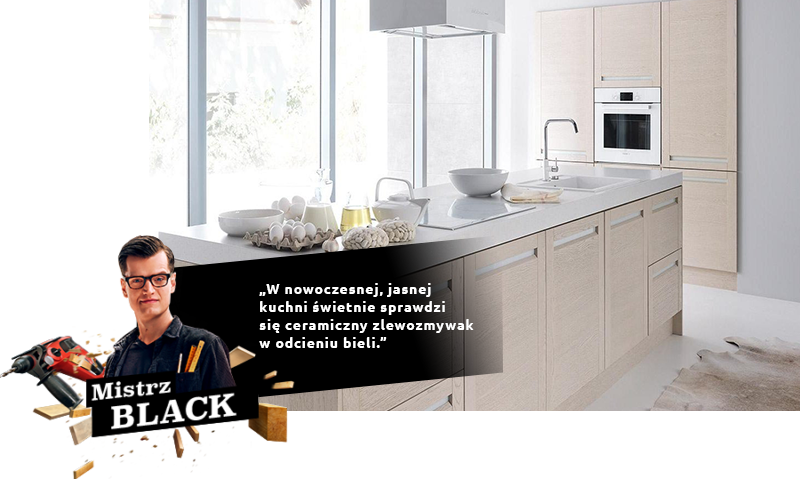 Mistrz Black nowoczesna jasna kuchnia