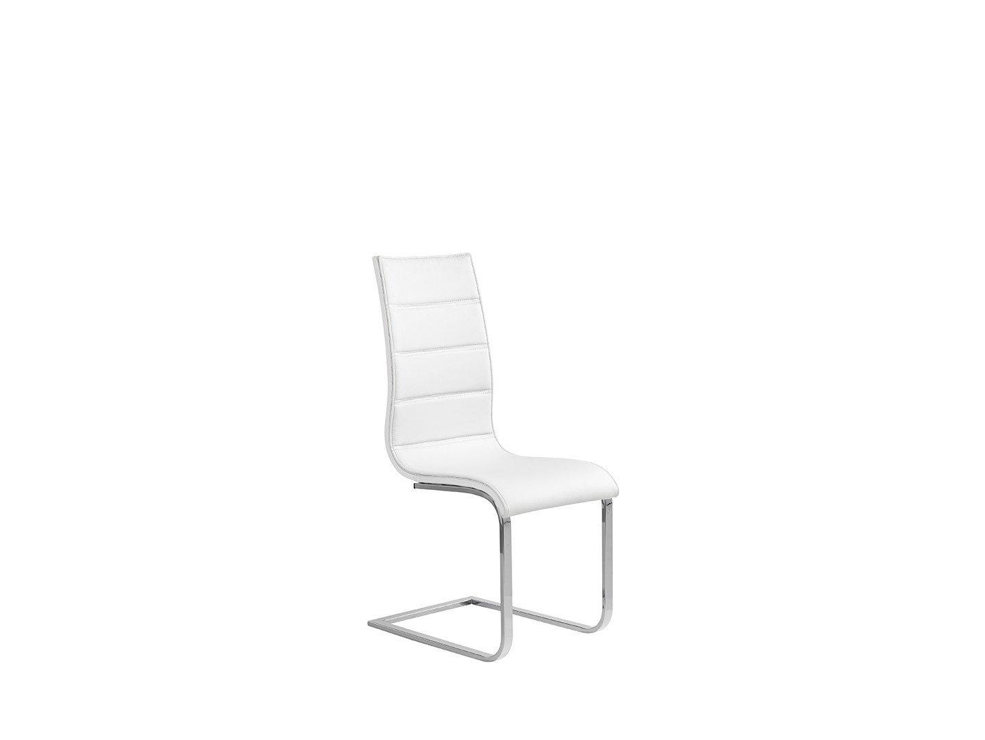 Nowoczesne białe krzesło