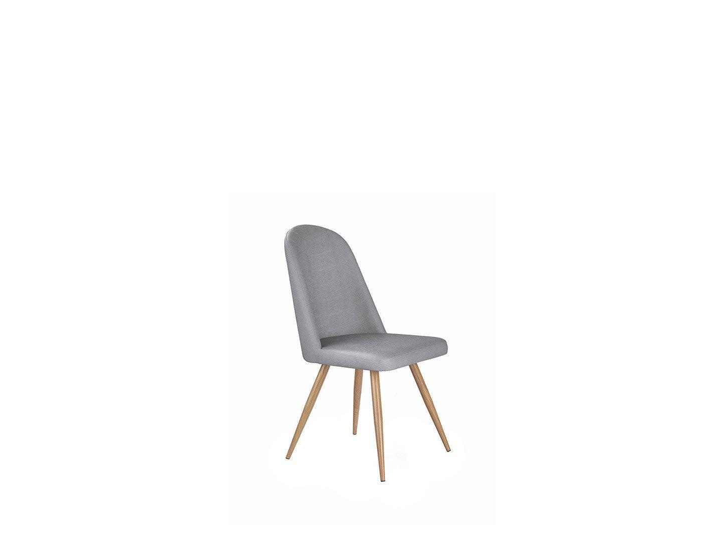 Popielate krzesło K-214