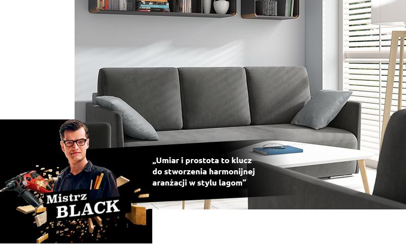 Canapé Clarc dans l'agencement du salon dans le style du lagom