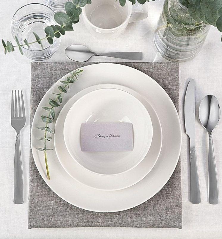 Zestaw obiadowy na przent ślubny