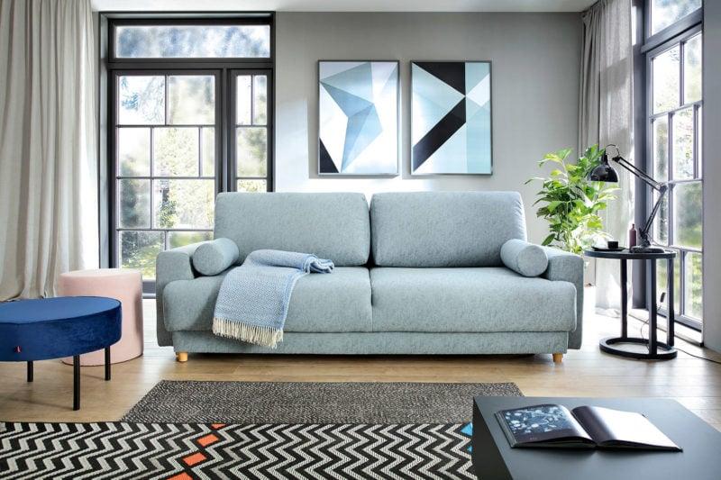 Rozkłada sofa Tawi podkreśli minimalizm japońskiego wnętrza.