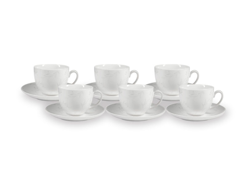 Zestaw kawowy Satin Leaves (12 elementów)