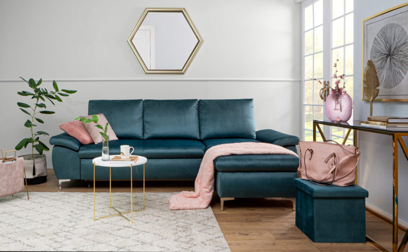 Narożnik Bormio to wyjątkowy styl, wygoda i miejsce do przechowywania w jednym!