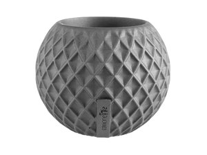 Okrągła doniczka z betonu