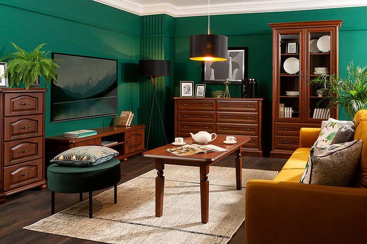 Les meubles en bois de la collection Natalia associés à la verdure créent un duo extrêmement harmonieux
