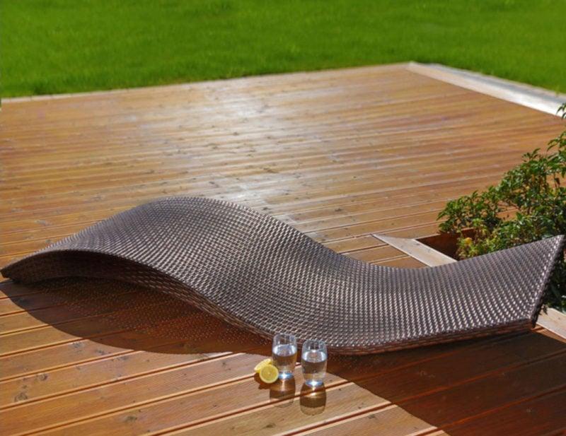 Leżaki ogrodowe z polirattanu są odporne na promieniowanie UV oraz deszcz