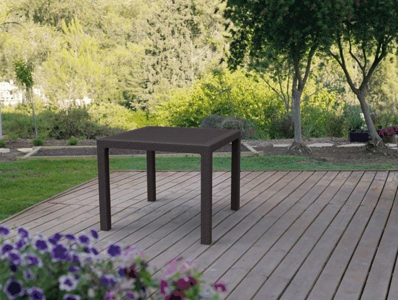 Stół ogrodowy Melody Quarted Brown