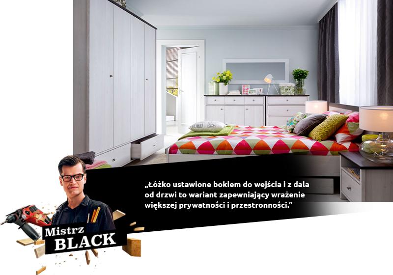 Le lit mis sur le côté de l'entrée et loin de la porte est une variante offrant l'impression d'une plus grande intimité et d'espace.