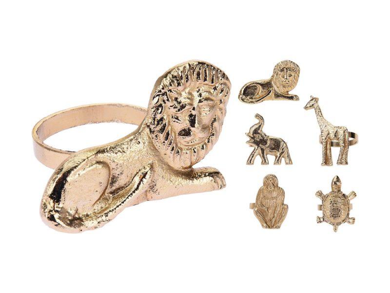 Pierścień do serwetek Gold Animals