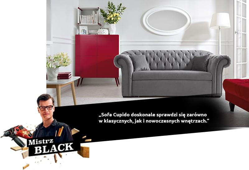 Le canapé Cupido est parfait pour les intérieurs classiques et modernes