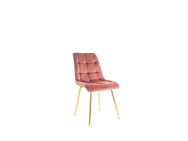 Krzesło róż Chic Velvet