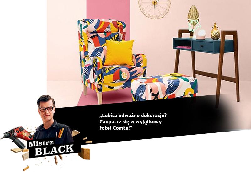 BLACK: Lubisz odważne dekoracje? Zaopatrz się w wyjątkowy fotel Comte!