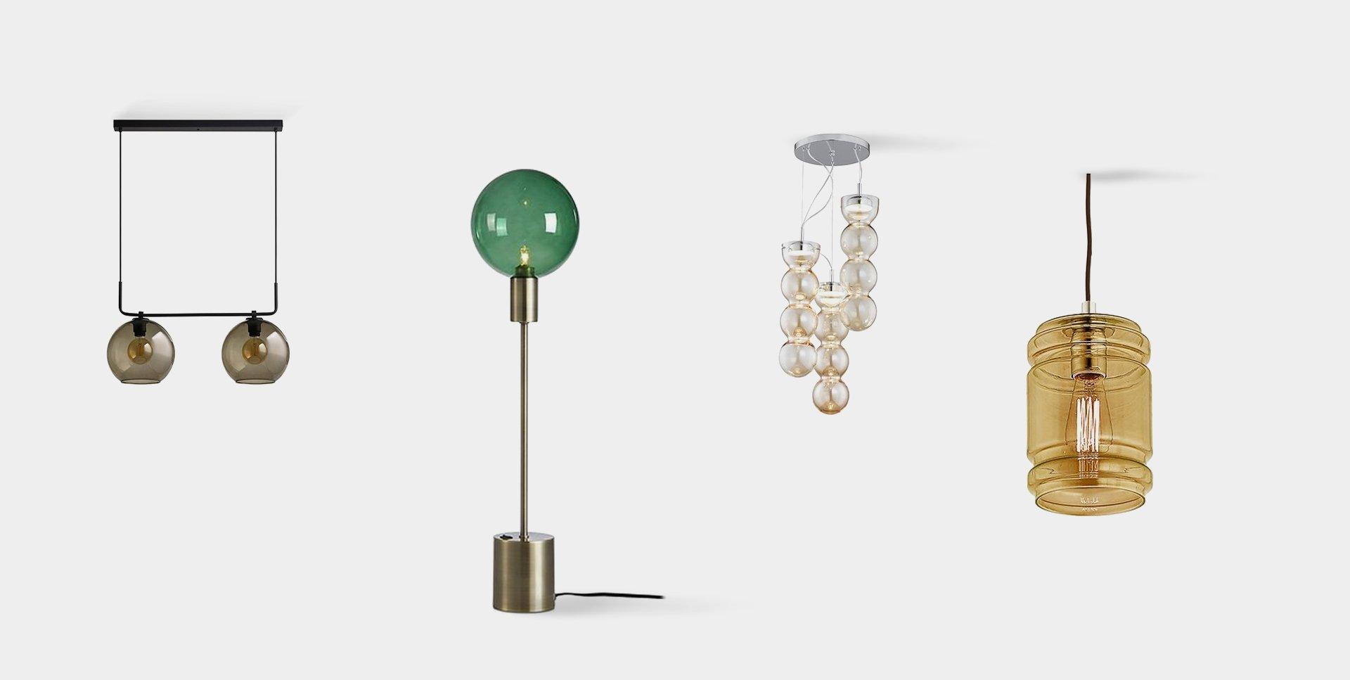 lampy z kolorowego szkła