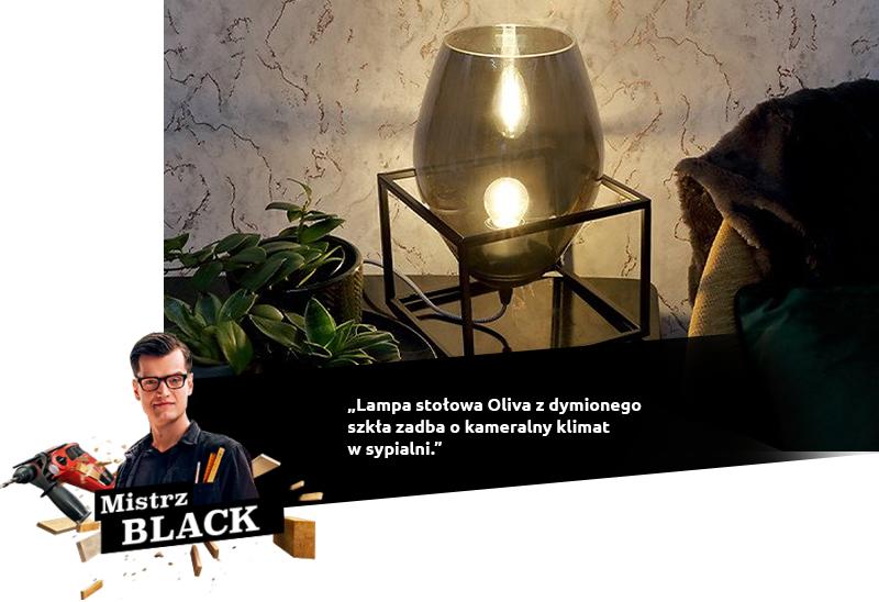 black lampa Oliva