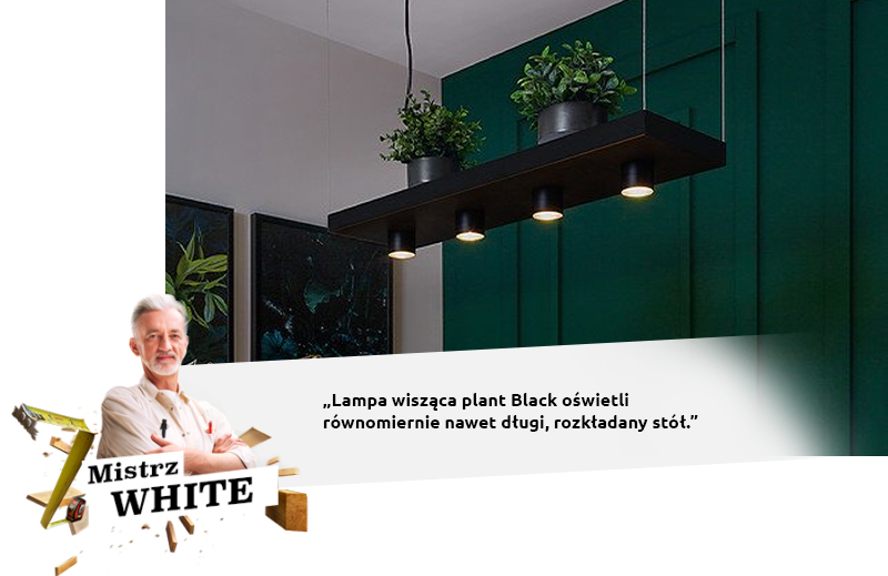 white lampa
