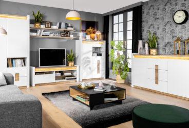 Aranżacja salonu w bieli – wybierz eleganckie meble i stylowe dodatki