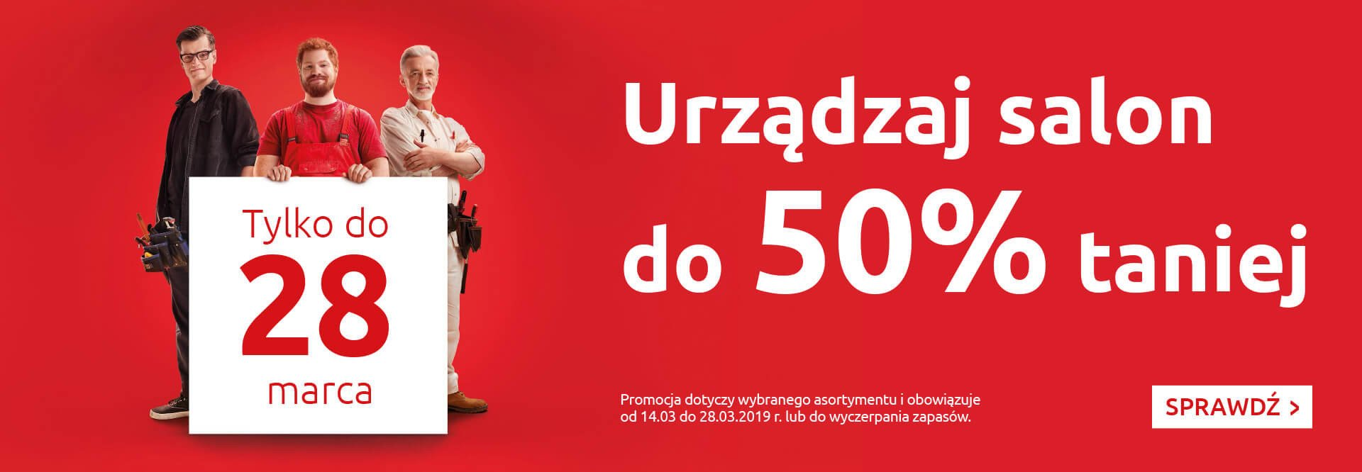 Urządzaj salon do 50% taniej z Black Red White!