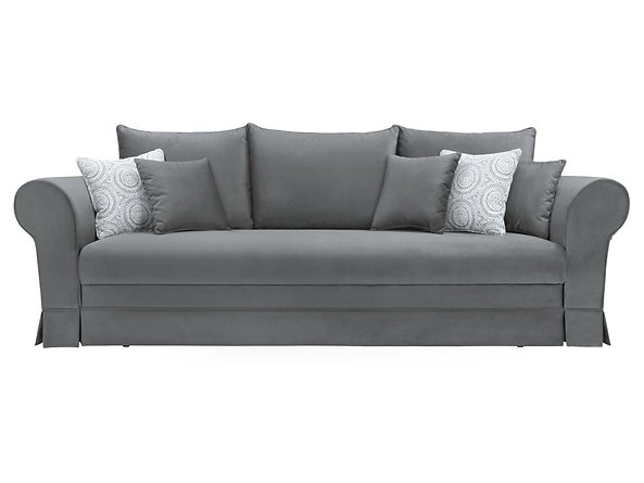 sofa Margaret Lux 3DL, Tkanina Margaret Lux 3DL-Lilly 362 White Grey/Granada 2725 Grey, 59958
