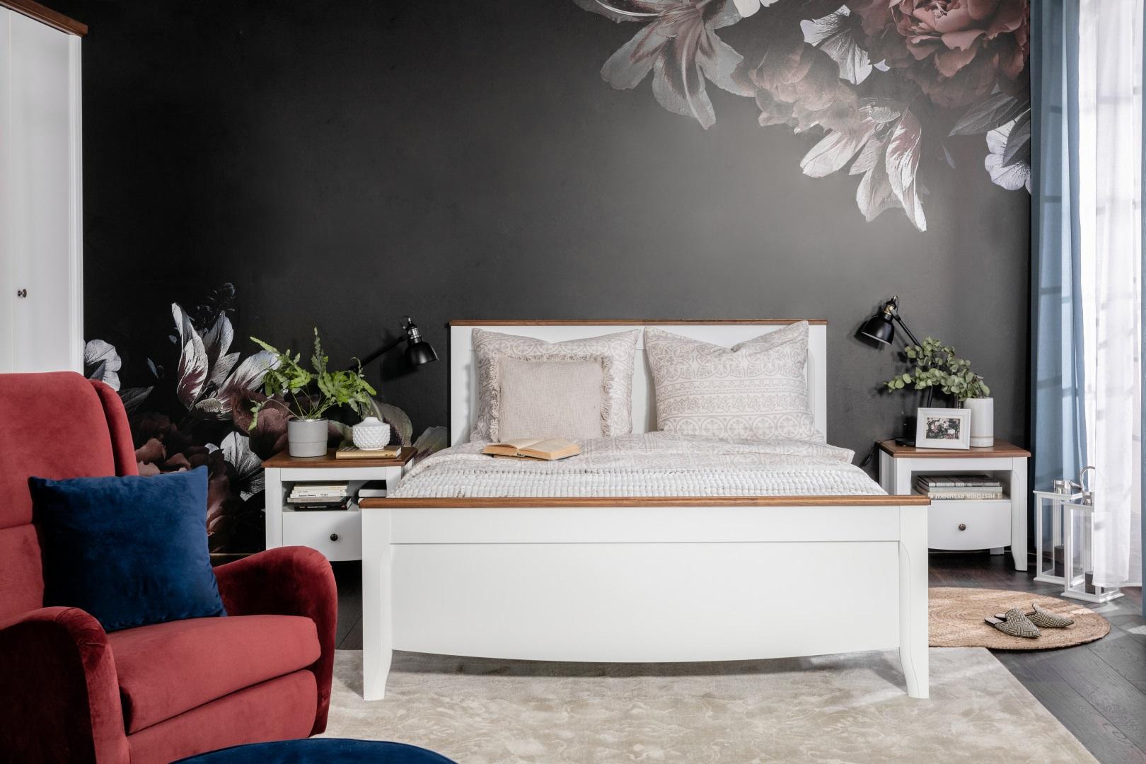 Kalio - klasyczna sypialnia  Black Red White