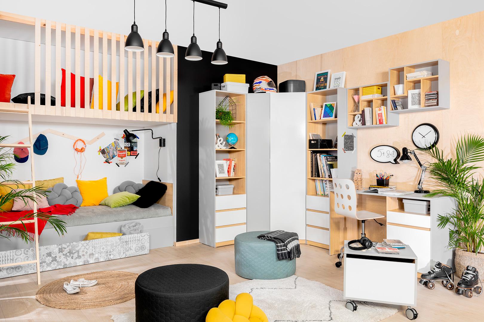 Nandu - nowoczesny pokój młodzieżowy Black Red White