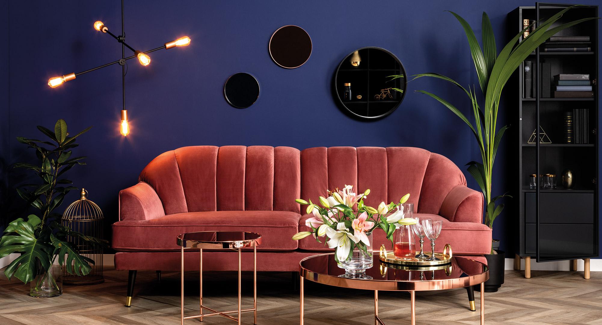 sofa Lisera Black Red White
