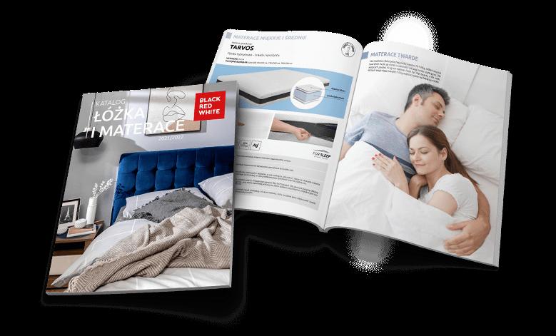 Katalog łóżka i materace 2021/2022 w Black Red White. Sprawdż!