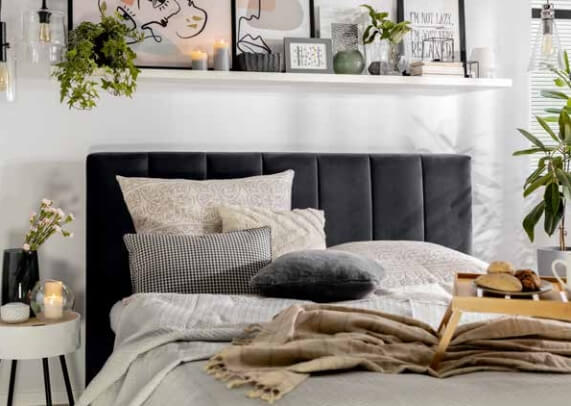 Łóżka tapicerowa Black Red White