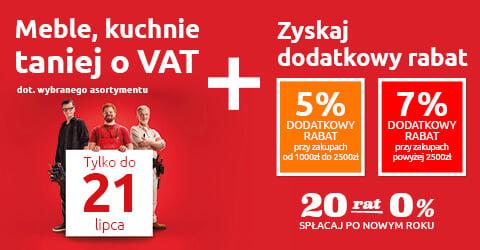 Meble, kuchnie taniej o VAT tylko w Black Red White. Sprawdź!