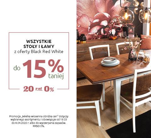 Wszystkie stoły i ławy rtv z oferty Black Red White do 15% taniej. Sprawdź!