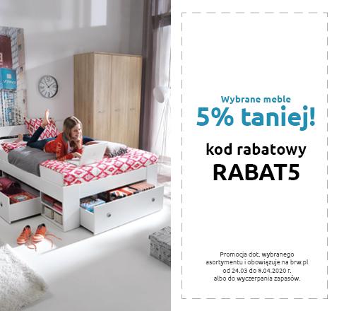 Rabat 5% na meble tylko w Black Red White. Sprawdź!
