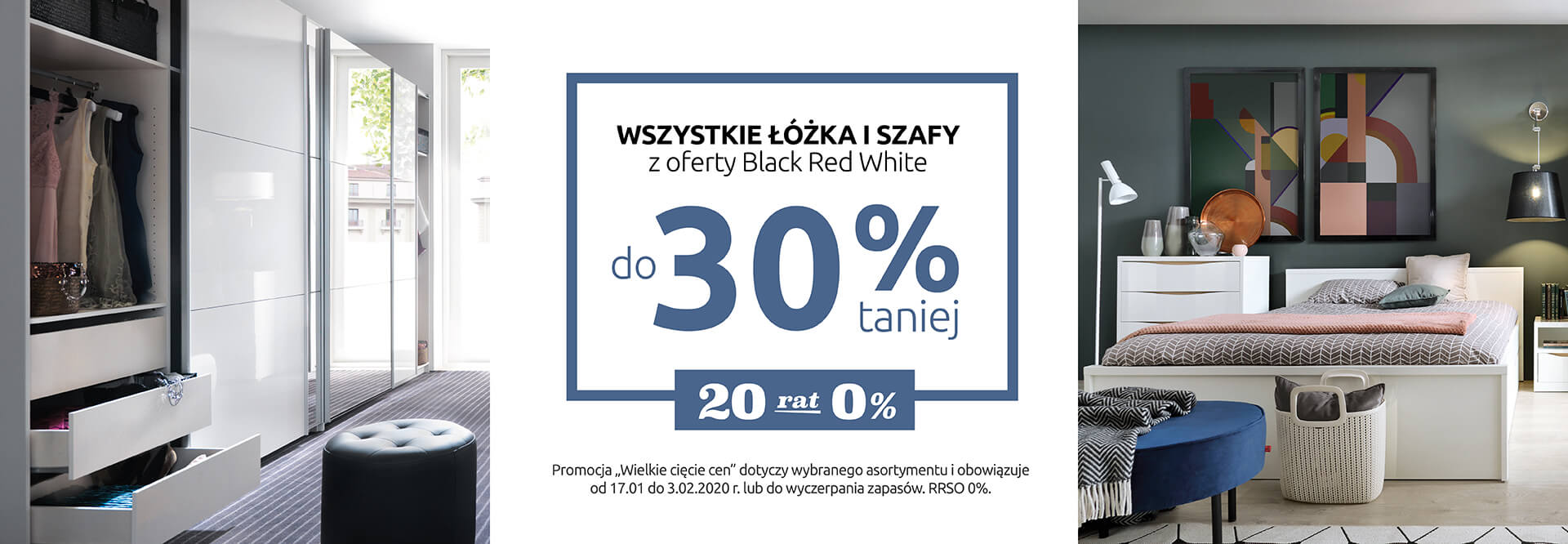 Wszystkie łóżka i szafy z oferty Black Red White do 30% taniej. Sprawdź!